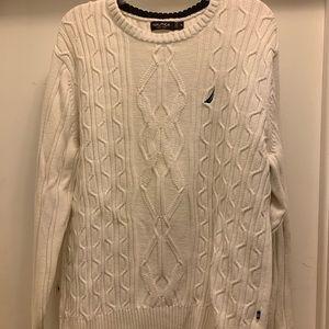 XL White Nautica Cotton Sweater